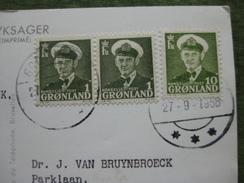 STAMPS GRONLAND 1958 ON POSTCARD - Interi Postali