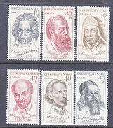 CZECHOSLOVAKIA  1668-73   *  MUSIC  SCIENCE  BEETHOVEN - Czechoslovakia