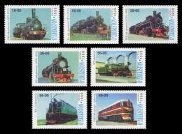 Uzbekistan 1999 Mih. 186/92 Locomotives MNH ** - Usbekistan