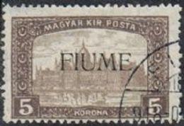 Fiume SG19 1918 Definitive 5k Fine Used FILLER [12/12590/7D] - 8. WW I Occupation