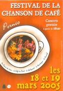 """Carte Postale """"Cart'Com"""" (2005) - Festival De La Chanson De Café (Concerts Gratuits) Pornic - Publicité"""