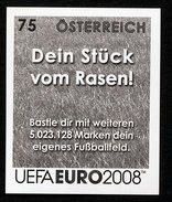 MNH  VERY RARE OFFICIAL IMPERFORATED BLACK PRINT (LOW QUANTITY ISSUED) FROM A STAMP 100% GENUINE AUSTRIA SOCCER FUSSBAL