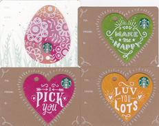 4 Gift Cards  - - -  Starbucks Germany  - - -  Mini Cards (5) - Gift Cards