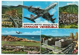 VENEZUELA - CARACAS AEROPUERTO MAIQUETIA/ AIRPORT/AEROPORT/ AEROPORTO/AVION /AIRPLANE / THEMATIC STAMP-SEA LIFE - FISH - Aerodromi