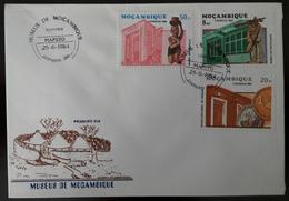 FDC MOÇAMBIQUE / MOZAMBIQUE - Museus De Moçambiue (2) (museums) - Maputo, 15/6/1984 - Mosambik