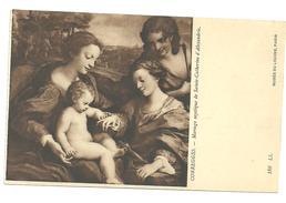 CPA Tableau Correggio Mariage Mystique De Ste Catherine D'Alexandrie Musée Du Louvre N°186 LL - Museos