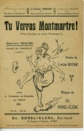 PARTITION CAF CONC BÉRARD TU VERRAS MONTMARTRE RÉPUBLIQUE BOYER BOREL-CLERC FOLIES BERGÈRE 1922 PARISYS - Music & Instruments