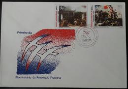 FDC MOÇAMBIQUE / MOZAMBIQUE - Bicentenario Da Revolução Francesa (French Revolution) - Maputo, 16/2/1989 - Mozambico