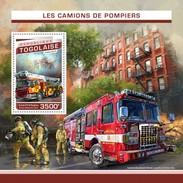 TOGO 2016 SHEET FIRE ENGINES CAMIONS DE POMPIERS FIRE TRUCKS FIREFIGHTERS CAMIONES DE BOMBEROS Tg16505b - Togo (1960-...)