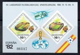 1982  ESPANA'82  Football World Cup - Stadiums  Imperf. Souvenir Sheet **