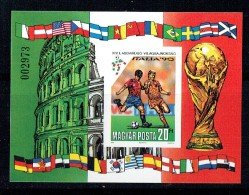 1990  ITALIA'90   Football World Cup - Imperf. Souvenir Sheet **