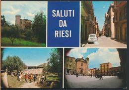 °°° 4977 - SALUTI DA RIESI - VEDUTE (CL) 1983 °°° - Italia