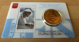 2015 VATICANO - PONTIFICATO PAPA FRANCESCO (50 CENTESIMI FDC / STAMP&COIN CARD N. 7) - Vatican