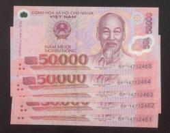 Lot Of 05 Vietnam Viet Nam 50000 Dong UNC Polymer Banknotes 2014 - Vietnam