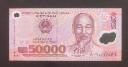 Vietnam Viet Nam 50000 Dong UNC Polymer Banknote 2014 - Vietnam