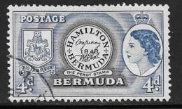Bermuda, Scott #150 Used Perot Stamp, 1953
