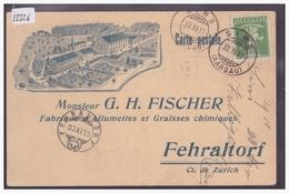 FEHRALTDORF - G.H. FISCHER, FABRIQUE D'ALLUMETTES ET GRAISSES CHIMIQUES - TB - ZH Zurich