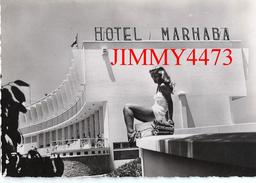 CPM Dentelées -  HOTEL MARHABA à MAZAGAN Maroc- Cliché Bernard Rouget à Casablanca - Scans Recto-Verso - Hotels & Restaurants