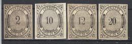 """Mexique  N°s 9*,10*,11*,12*   """"PORTE DE MAR""""    (1875)  Transport Par Mer - Messico"""