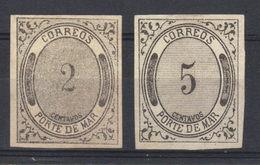 """Mexique  N°s 9* Et 20*  """"PORTE DE MAR"""" (1875)  Transport Par Mer - Mexico"""