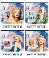 DJIBOUTI 2016 ** Marilyn Monroe Cinema Film Kino 4S/S - IMPERFORATED - DH1719 - Cinema