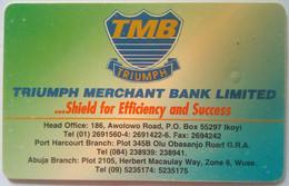 Nigeria Phonecard 80 Units Triumph Merchant Bank
