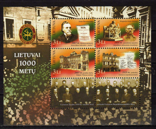 Lithuania 2007 The 1000th Anniversary Of Lithuania.S/S.MNH