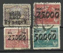 POLEN Poland 1923 Michel 185 - 188 O - 1919-1939 Republic