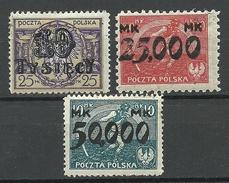 POLEN Poland 1923 Michel 185 - 186 & 188 * - Unused Stamps