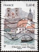 Oblitération Moderne Sur Timbre De France N° 4947 ** Cathédrale Saint Vincent à Châlons Sur Marne - Bateaux - France