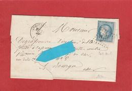 LAC - 1874 - Aubigny Sur Nere (Cher) GC209 CAD15 Sur N°60A Cérès (voir état) - Postmark Collection (Covers)
