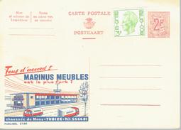 Publibel N°2159 Marinus Meubles Tubize Avec Timbre Additionnel 1694 Elström 3F - Stamped Stationery