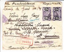 Lituanie - Lettre Recom De 1940 ° - Oblit Kaunas - Exp Vers Le Camp De Gurs En France - Avec Censure - Très Rare
