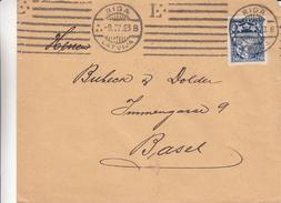 Lettonie - Lettre De 1923 - Oblit Riga - Exp Vers Basel En Suisse - Lettonie