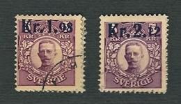 SVEZIA 1917 - Pacchi Postali Soprastampati - 1.98 E 2,12 Kr. - Yt:SE CP1-2 - Usati