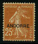 ANDORRE FRANCAIS - YT 9 * - TIMBRE NEUF *