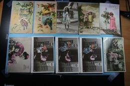 Lot De 10 Cartes Postales Fantaisies Diverses /01/ - Fantaisies