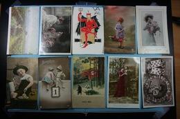 Lot De 10 Cartes Postales Fantaisies Diverses /03/ - Fantaisies