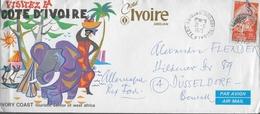 COTE D IVOIRE  Lettre Oiseaux