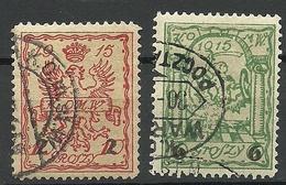 POLEN Poland 1915 Stadtpost Warschau Michel 5 - 6 O