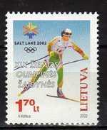 Lithuania 2002 Winter Olympic Games - Salt Lake City, USA.MNH - Lithuania