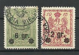 POLEN Poland 1916 Stadtpost Warschau Michel 9 - 10 O