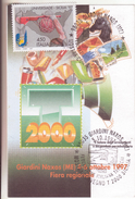 99-Marcofilia-Annullo Speciale-Tema:Tabacco-Giardini Naxos (ME) 1997-Convegno T2000-Biglietto Di Cm.8 X 12 - 6. 1946-.. Republic