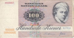 BILLETE DE DINAMARCA DE 100 KRONER DEL AÑO 1972  (BANKNOTE) - Dinamarca