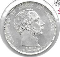 *denmark  2 Kroner 1888  Km 799   Unc !!! - Denmark