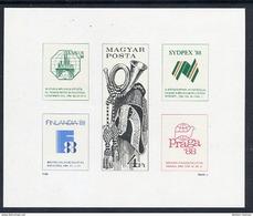 HUNGARY 1988 FINLANDIA Exhibition Imperforate Block MNH / **.  Michel Block 197B - Blocks & Sheetlets