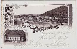 """1897, """" Türkismühle, Bahnhof, Gasthof, Litho , #8154 - Deutschland"""