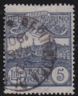San  Marino       .   Yvert     .    45     .        O      .   Gebruikt    .     /    .     Cancelled - San Marino
