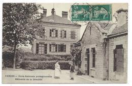 CPA - VIERZON, ECOLE NATIONALE PROFESSIONNELLE, BATIMENT DE LA DIRECTION - Cher 18 - Animée, Circulé 1908 - Vierzon