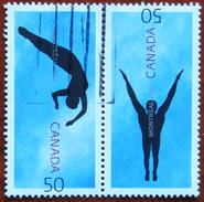 FREE POSTAGE!! Canada Kanada 2005 FINA World Championship, Swimming, Sport, Paar, 2v, Se-tenant, Used, Gestempelt, Vg